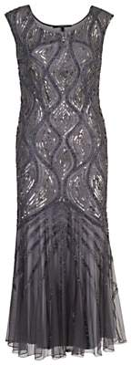 chesca Chesca Beaded Mesh Dress