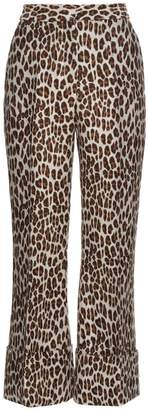 STELLA MCCARTNEY Leopard-print wool-blend cropped trousers