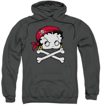 Betty Boop Hoodie Pirate Pullover Hoodie Size L
