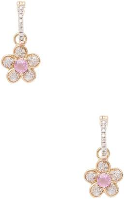 Rina Limor Fine Jewelry Women's 14K Yellow Gold Pink Sapphire & Diamond Floral Dangle Earrings