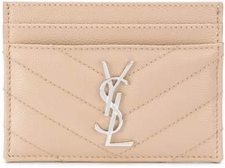 Saint Laurent quilted credit card case