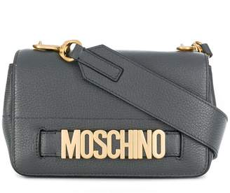 Moschino small lettering flap bag