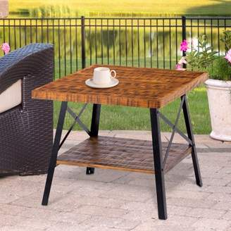 GranRest 24'' End Table with Open Shlef, Rustic Brown