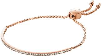 Michael Kors Brilliance Rose Gold Tone Metal Bracelet w/Crystals