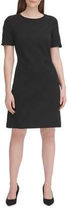 Tommy Hilfiger Jacquard Short-Sleeve Sheath Dress