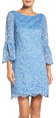 Women's Eliza J Bell Sleeve Lace Dress $178 thestylecure.com