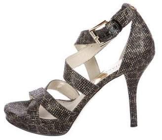 MICHAEL Michael Kors Metallic Canvas Sandals