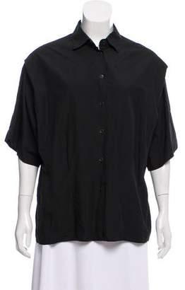 Tomas Maier Short Sleeve Button-Up Top