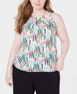 Bar III Plus Size Printed Sleeveless Camisole, Created for Macy's
