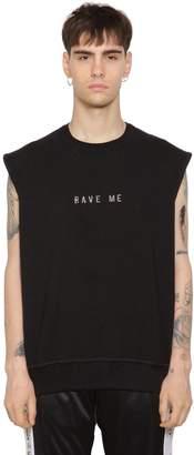 Misbhv Rave Me Sleeveless Cotton Sweatshirt