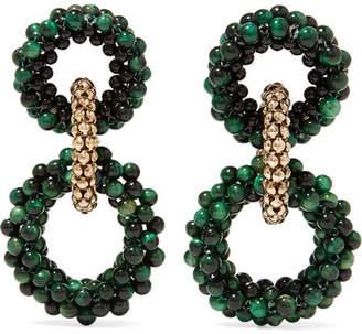 Rosantica Carrarmato Beaded Earrings - Green