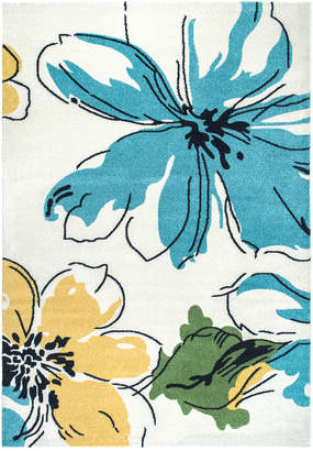 nuLoom Barbosa Floral Abstract Machine-Made Synthetic Floral Rug
