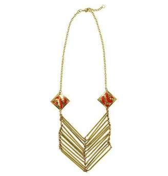 Mela Artisans Lolita Necklace in Coral & Gold