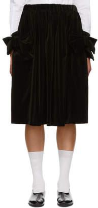 Comme des Garcons Black Velvet Bow Pocket Skirt