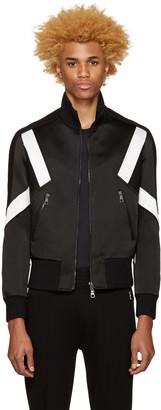 Neil Barrett Black Modernist Track Zip-Up Sweater $1,550 thestylecure.com