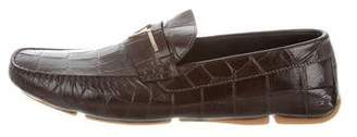 Versace Square-Toe Moccasin Loafers w/ Tags