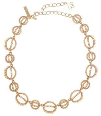 Oscar de la Renta Pave Crystal Globe Necklace