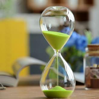 Hourglass Winterworm Large Fashion Colorful Sand Glass Sandglass Timer Clear Smooth Glass Measures Home Desk Decor Xmas Birthday Gift