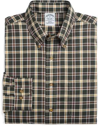 Brooks Brothers Non-Iron Slim Fit Thick Windowpane Sport Shirt