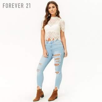 Forever 21 (フォーエバー 21) - フレイドヘムダメージスキニージーンズ