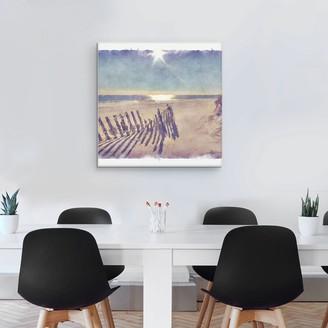 """Beach Fence 24"""" x 24"""" Canvas Wall Art"""