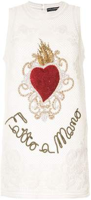 Dolce & Gabbana sheer embroidered tank top