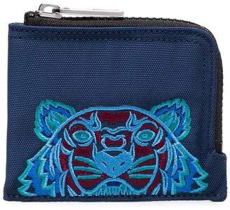 Kenzo blue tiger design cotton cardholder