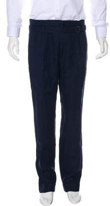 Ralph Lauren Purple Label Cuffed Pleated Pants