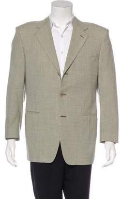 Canali Houndstooth Three-Button Blazer