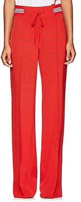 Valentino WOMEN'S FAILLE TRACK PANTS - RED SIZE 4