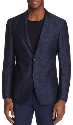 John Varvatos Star USA LUXE Chambray Floral Print Slim Fit Sport Coat $495 thestylecure.com