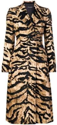 Dolce & Gabbana midi buttoned coat