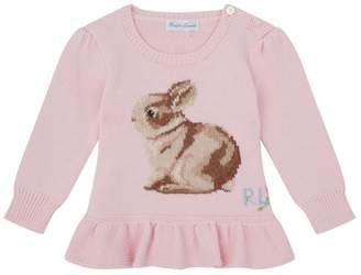 Polo Ralph Lauren BunnyEmbroideredPeplum Sweater