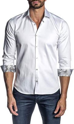 Jared Lang Men's Long-Sleeve Woven Sport Shirt