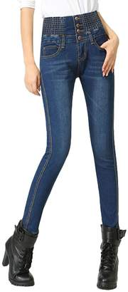 ABCWOO Womens Skinny Pencil Jeans Comfy Slim Stretchy High Rise Casual Denim Jegging