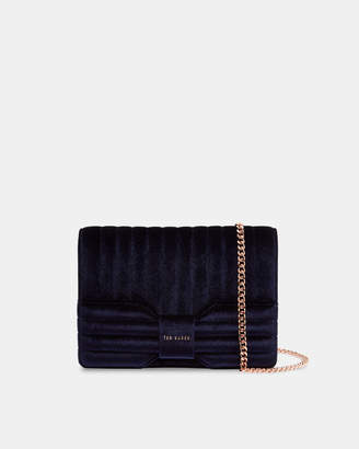 Ted Baker ROSALAA Velvet bow cross body bag