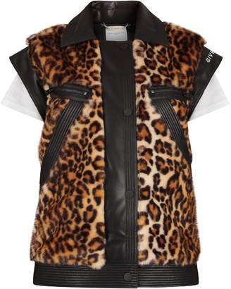 Givenchy Black Girl Vest With Animalier Print