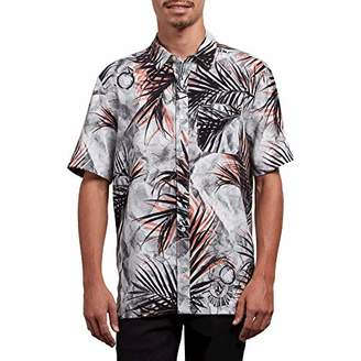 Volcom Men's More Something Short Sleeve Button Up Woven Shirt