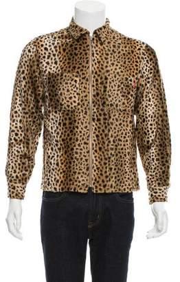 Supreme Cheetah Print Shirt Jacket