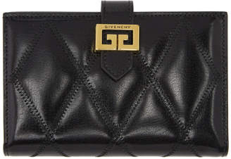 Givenchy Black Quilted Medium GV3 Wallet