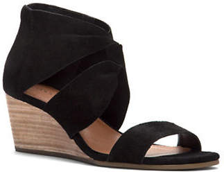 Lucky Brand Tammanee Suede Wedge Sandals