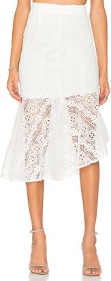 Line & Dot Promenade Mermade Skirt $114 thestylecure.com