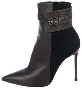 Gianvito Rossi Leather Ankle Boots Grey Leather Ankle Boots