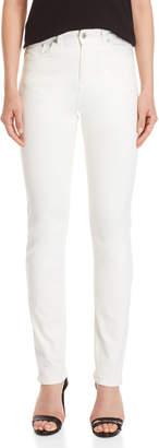 Fiorucci Ivory High-Rise Cigarette Jeans