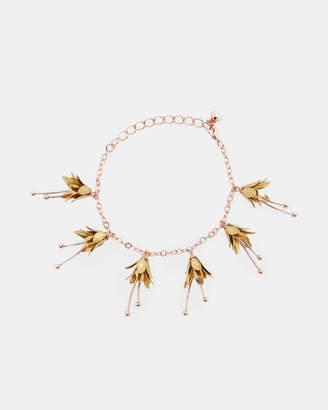 Ted Baker FORTINA Mini fuchsia flower bracelet