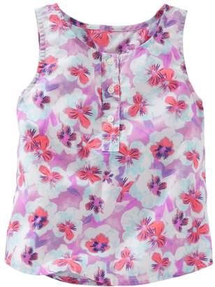 Osh Kosh Oshkosh Bgosh Girls 4-6x Floral Henley Tank