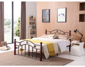 Rails Hodedah Complete Bronze Metal Bed with Headboard, Footboard, Slats and in Twin Size