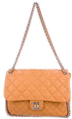 Chanel Chain Around Maxi Flap Bag Orange Chain Around Maxi Flap Bag