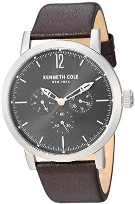 Kenneth Cole New York Men's Sport' Quartz Stainless Steel and Leather Dress Watch