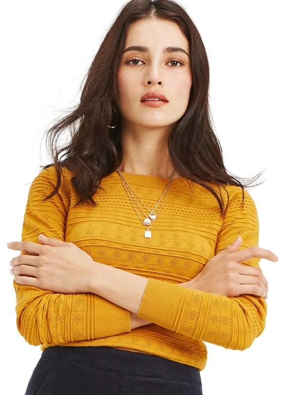 Ochre 'Amelia' Textured Knit